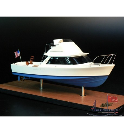 Bertram 31 Boat Model built by Abordage