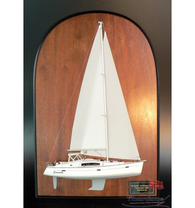 Beneteau 43 Framed Half Model by Abordage