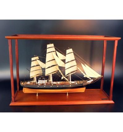 Display case Acrylic with classic mahogany frame