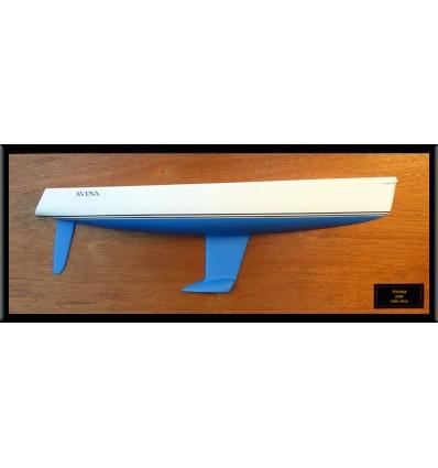 J109 flush deck half hull