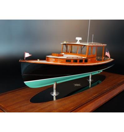 POSTHASTE IV, a 34 ft lobsterboat-inspired day cruiser, custom model
