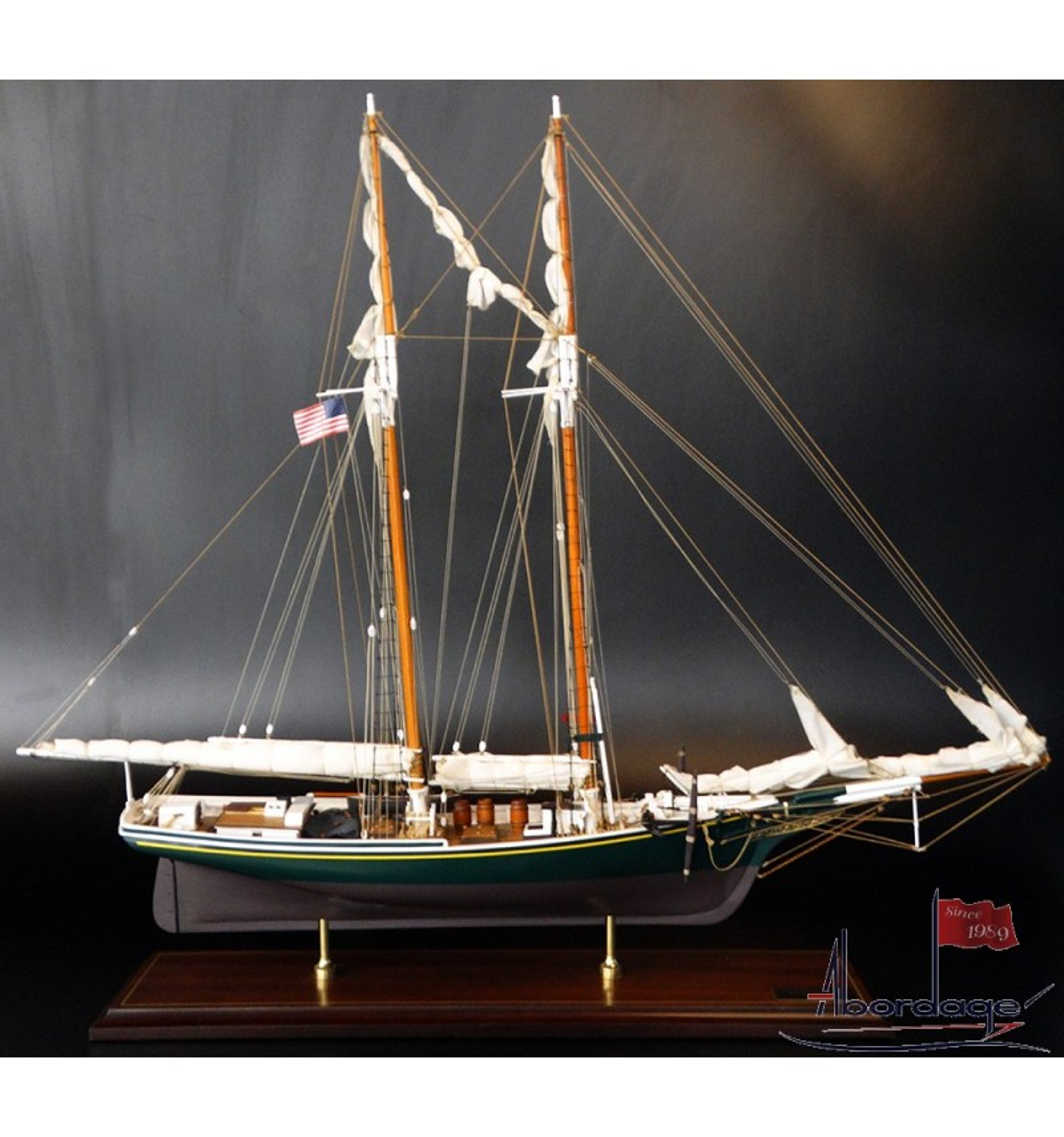 Mackerel Fishing Schooner New England 1877 Quality Model