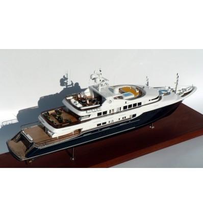 "Trinity Yachts Hull No. T-039 ""Unbridled"" Tri-Deck Motor Yacht. 191'-Model by Abordage"