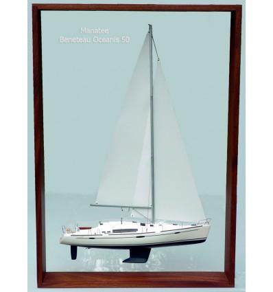 "Beneteau Oceanis 50 ""Manatee"" Framed Model built by Abordage"