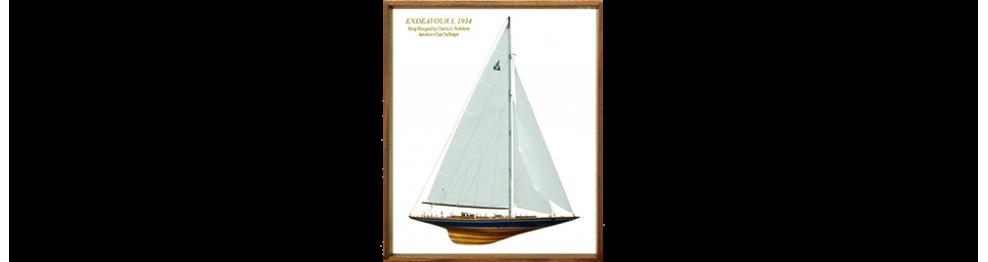 Half models with wooden frame
