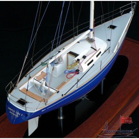 Sparkman & Stephens sailing yacht model built by Abordage
