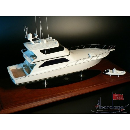 Viking 74 Convertible Enclosed Bridge model built by Abordage