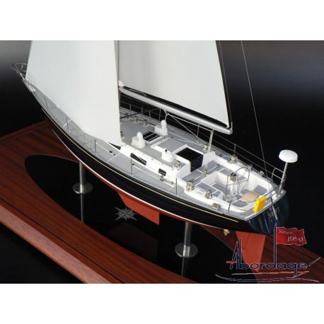NAVY 44 SAILBOAT MODEL BUILT BY ABORDAGE