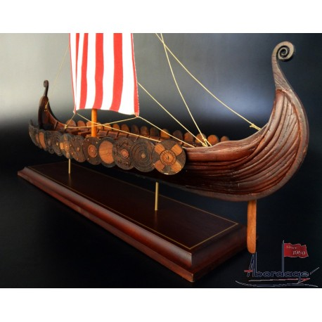 Viking Longship model built by Abordage