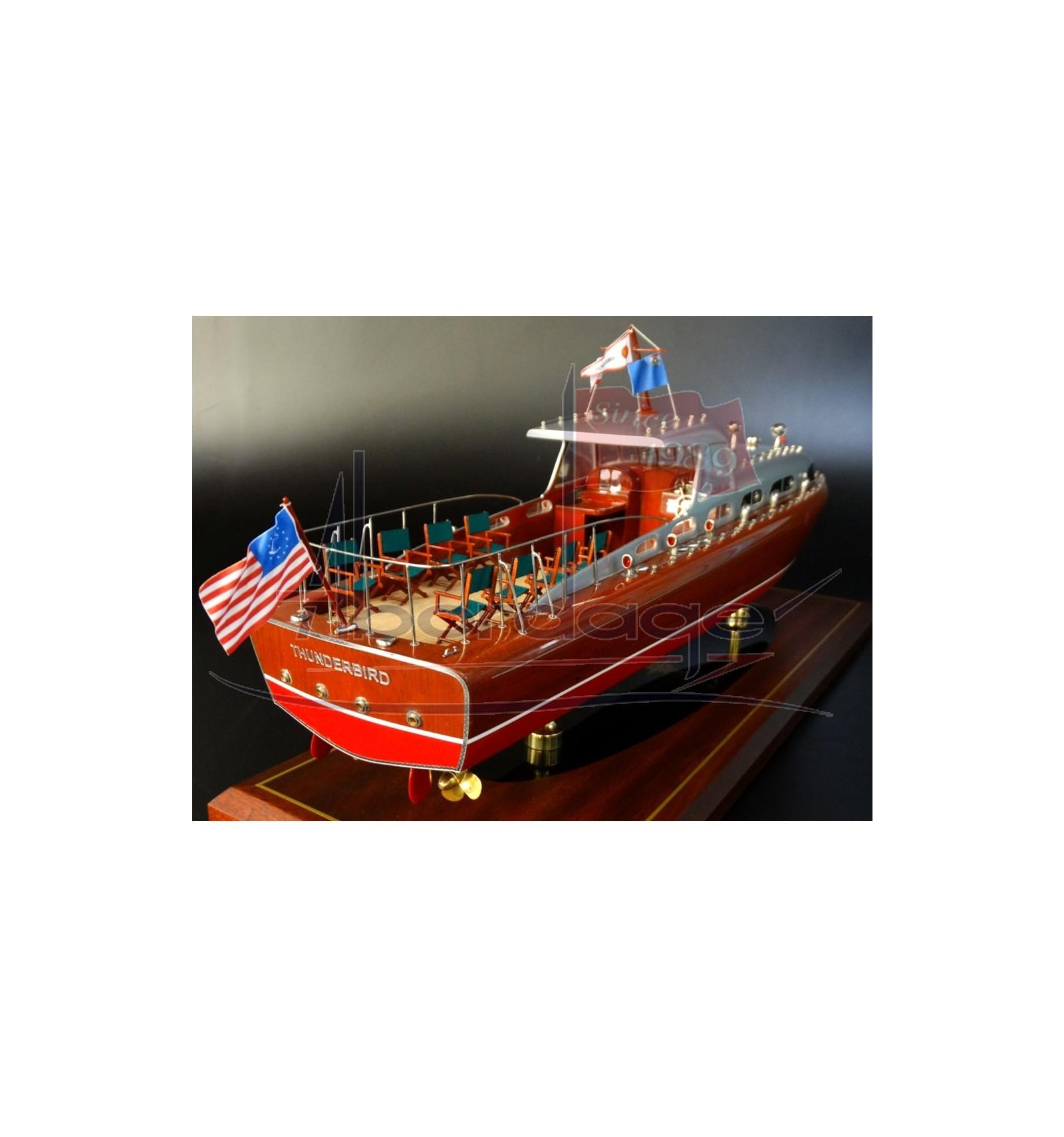Hacker Craft 55 Thunderbird Ship Model Built By Abordage