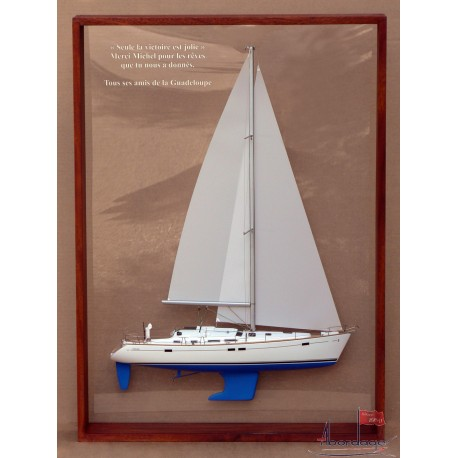 Beneteau 423 Framed half model by Abordage
