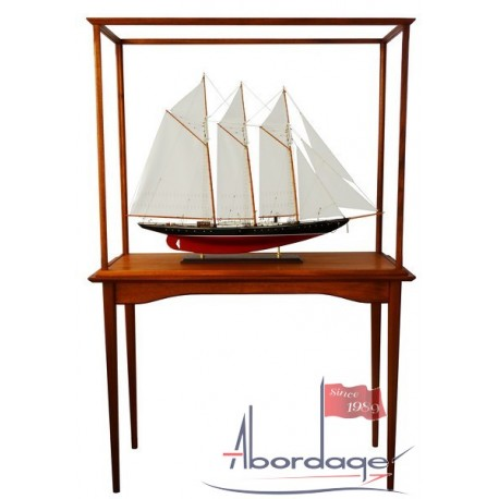 Display case Acrylic with classic mahogany frame and legs