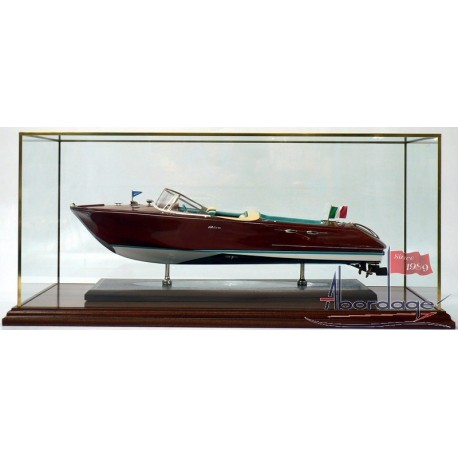 Display case Acrylic with solid brass edge frame