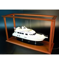 Display case Acrylic with classic mahogany frame