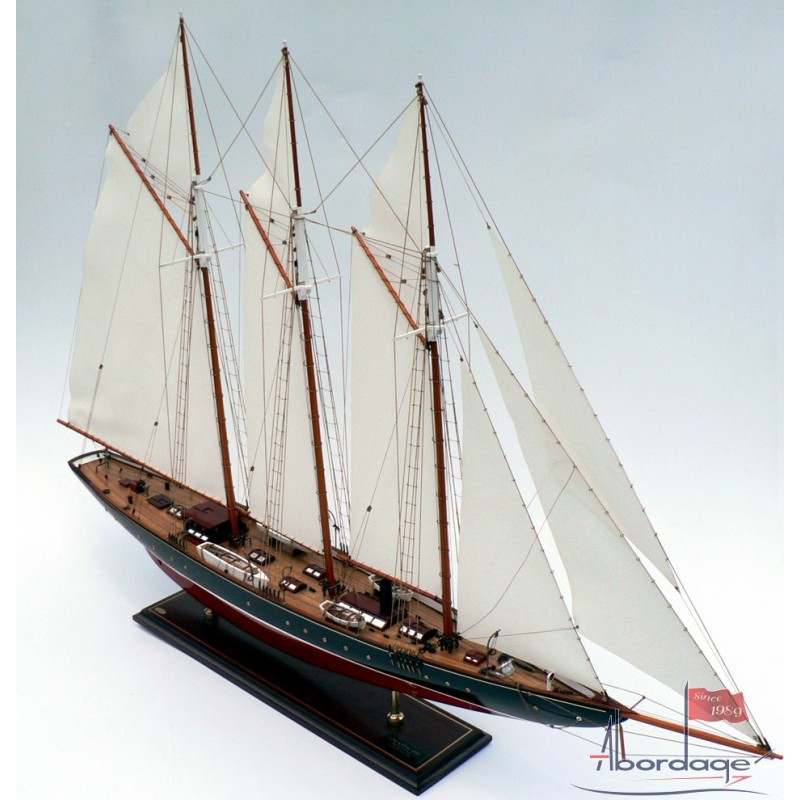 Atlantic 1903 Steam Schooner Custom Boat Model - Half Hulls