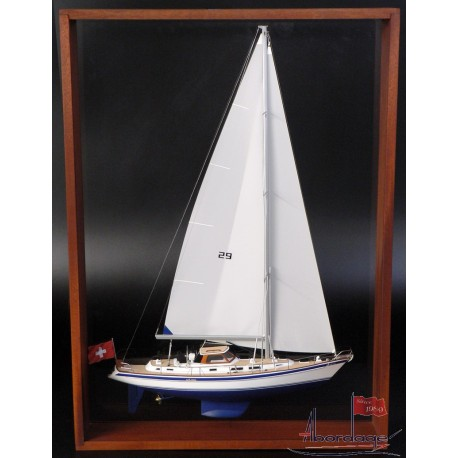 Hallberg-Rassy 43 Framed Half Model