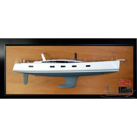 Jeanneau 64 Half Model with deck details