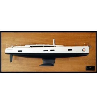 Beneteau Oceanis 55 half model with deck details