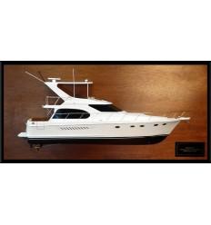 Ocean Alexander 48 Sedan Flybridge half model