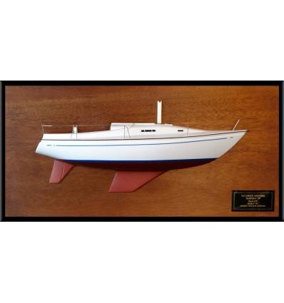 Seafarer 29 half model with deck details