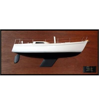 COLUMBIA 34 MK II half model with deck details