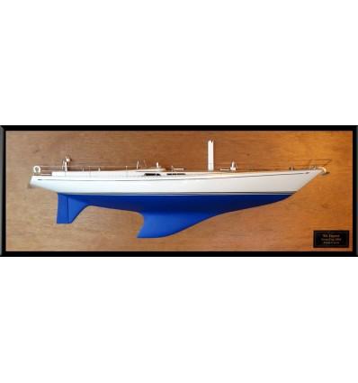 Nautor Swan 65 half model with deck details
