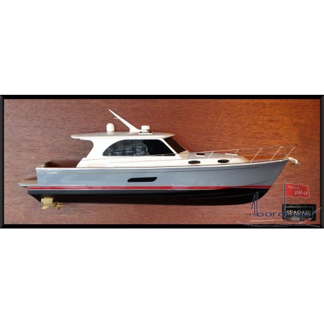 Grand Banks 44 Eastbay SX half model with deck details