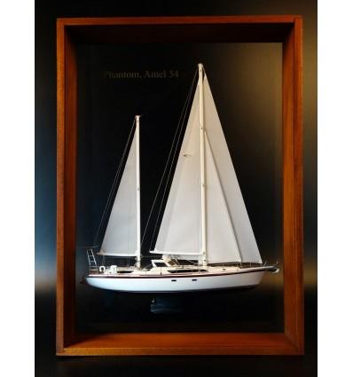 Amel 54 framed half model