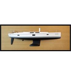 Hanse 455 half model with deck details