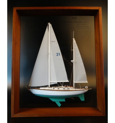 F&C 44 Ketch framed half model
