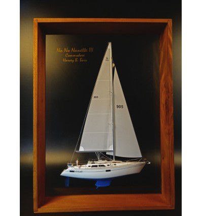 Hunter Legend 37.5 framed half model