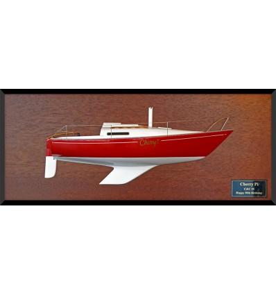 C&C 25 half model with deck details