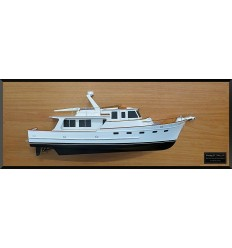 Fleming 53 power boat half model with deck details