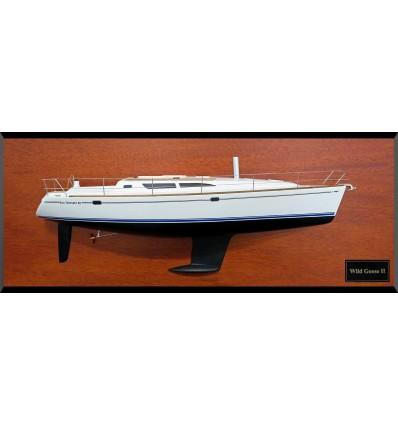 Jeanneau Sun Odyssey 40 half model with deck details