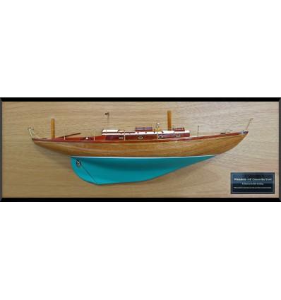 Concordia Yawl 41 custom half model with deck details