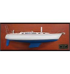 Sabre 362 half model with deck details