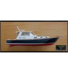 Bruckmann 38 Downeast half model with deck details
