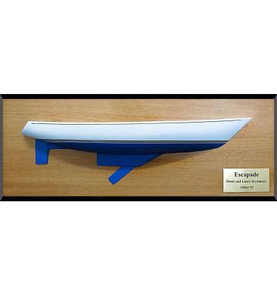 Alden 52 centerboard half hull