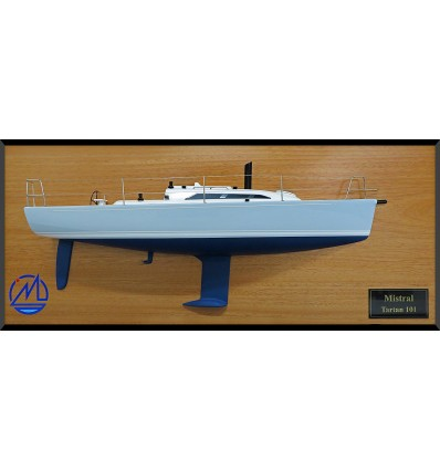 Tartan 101 half model with deck details