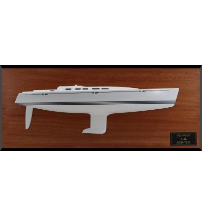 X-Yacht X-46 custom half model with cabin and cockpit only