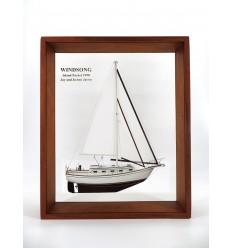 Island Packet 32 framed half model