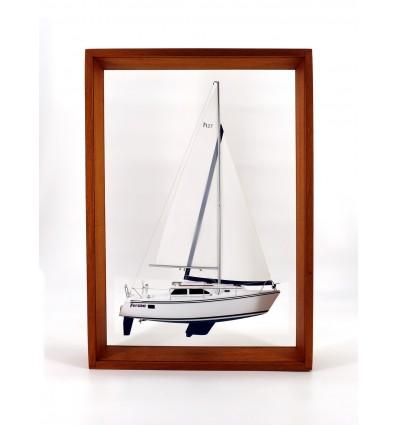 Hunter 27 framed half model