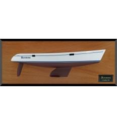 Catalina 380 custom half hull flushdeck