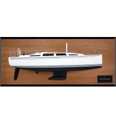 Hanse 345 custom half model with deck details