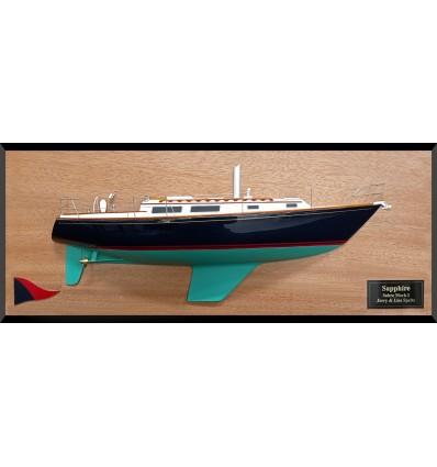Sabre 34 custom half model with deck details