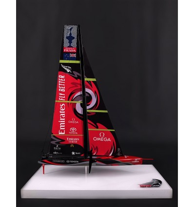 AC 75 Te Rehutai Emirates Team New Zealand desk model 2021 MN-A101, scale 1/100 or 9 inches LOA.