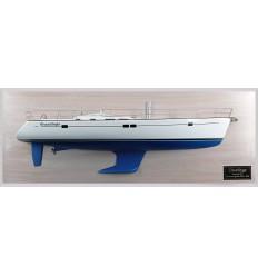 Beneteau 473 custom half model with deck details