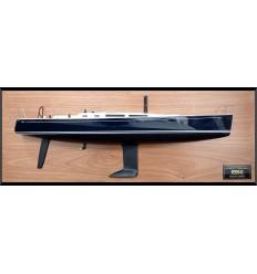Nautor's Swan 45 custom half model with deck details