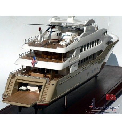 "Trinity Yachts Hull No. T-043 ""Mine Games"" Tri-Deck Motor Yacht. 196'-Model by Abordage"