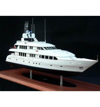 """Trident 130' Tri-Deck Motor Yacht """"Crili"""" Model by Abordage"""